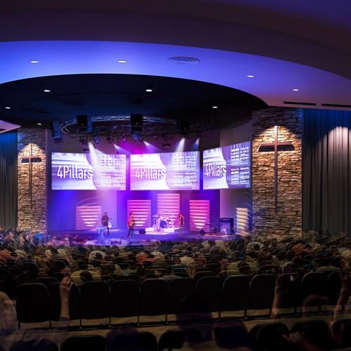 purple stage design
