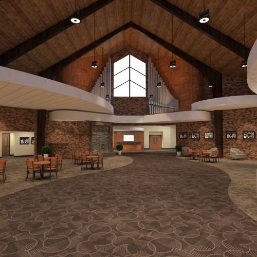 Vaulted Ceiling Lobby